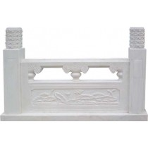 Pure white marble Railing sculpture, 100cm