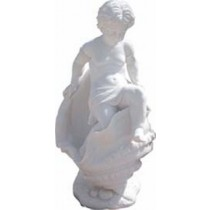 Pure White marble sculpture of child