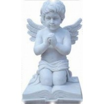 Pure white marble statue of Angle, height 70cm