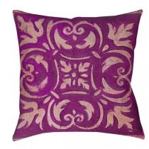Purple 16 Inch Polyester Square Cushion