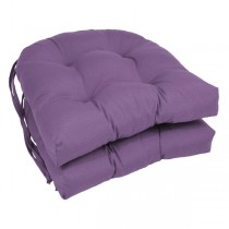 Purple 16 Inch U Shaped Cushion With Ties
