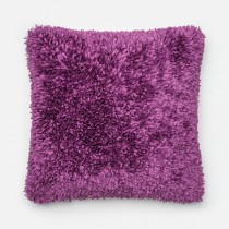 Purple Handmade Polyester Square Cushion
