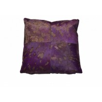Purple Leather Hair Cushion Cover
