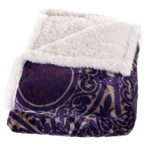 Purple Printed Polyester Throw