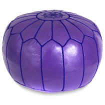 Purple Round Floor Pouf