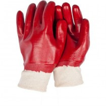 PVC Coated Large Red Gloves