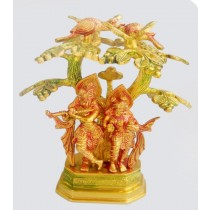 Radha Krishna Under Tree Statue, 10 Inches