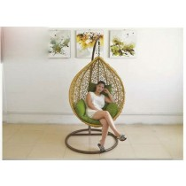 Rattan Brown Single Swing Chair