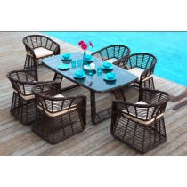 Rattan Chair and Table Set