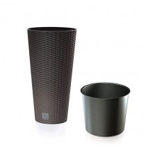 Rattan Flower Pot Planter With Plastic Liner