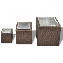 Rattan Planter Set of 3 Pcs