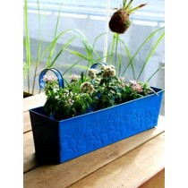 Embossed Galvanized Metal Railing Planter