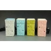 Rectangle Colored Ceramic Electric Wax Warmer Oil Burner(Set Of 4)