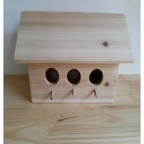 Rectangle Fir Wood Bird House