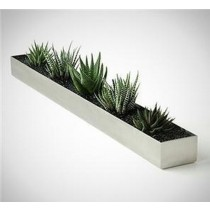 Rectangle Shaped 6 Inch Metal Planter