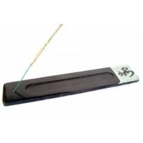 Rectangular Shape Om Black incense Stick Holder