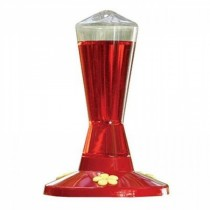 Red Color Finish Plastic Bird Feeder