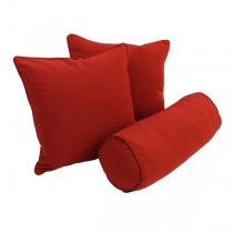 Red Color Solid Cotton Cushion