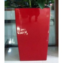 Red Color Tall Self-Watering Planter