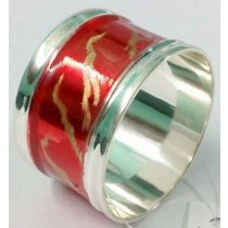 Red Color With Gold Printed Napkin Ring