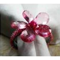 Red colour flower napkin rings