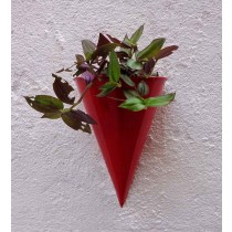 Red Cone Shape Wall  Planter
