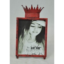 Red Crown Carving Shabby Chic Photo Frame