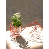 Red Cycle Single Planter Stand