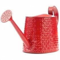 Red Embossed Petal Watering Can