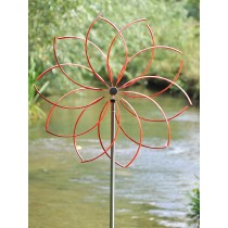Red Flower Design Stainless Steel Weathervanes
