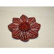 Red Flower Incense Stick Holder