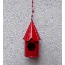 Red Hanging Bird House