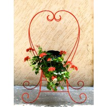 Red Heart Shape Planter Stand