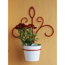 Red Lotus Shaped Wall Plant Holder