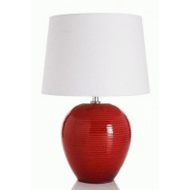Red Powder Coated Iron Table Lamp