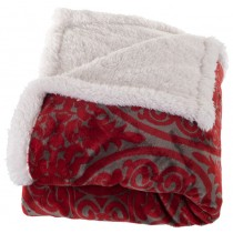 Red Printed Polyester Throw