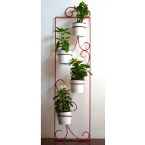 Red Rectangle Wall Planter