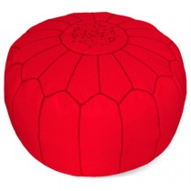 Red Round Floor Pouf