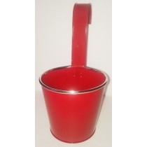 Red Round 13 Inch Metal Pot With Handle