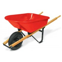 Red Square Tray with Handle Wheel barrow