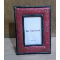 Red With Golden Design Wooden Photo Frame