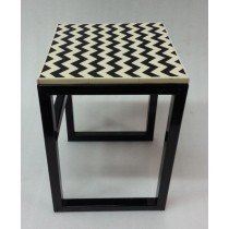 Resin with Iron Classic Stool H42 X W 30 CMS