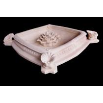 Rhombus Shape Carved Floral Design Unique Fountain