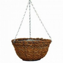 Rope Round Hanging Planter With Steel Chain