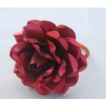 Rose design red color Iron Napkin Ring