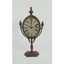 Rotatable Rustic Metal Desk Clock