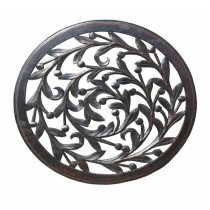 Round Antique Finish Wall Panel