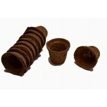 Round Biodegradable seedling Coir Pots(Set Of 10)