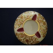 Round Decorative White Marble Ash Tray