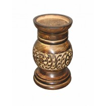Round Designer Wood Candle Stand